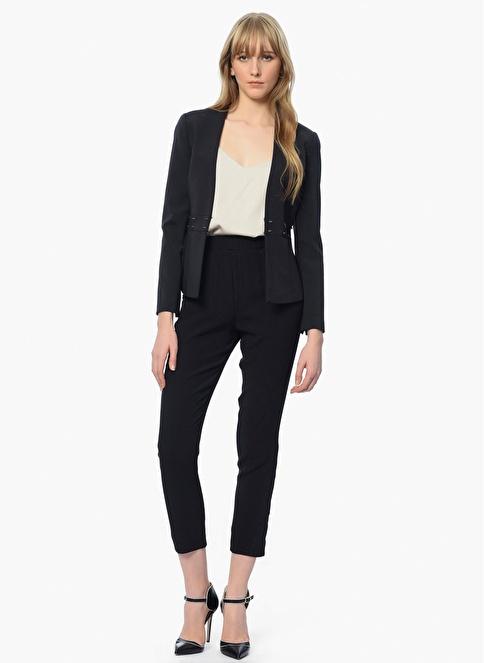 Que Slim Fit Ceket Siyah